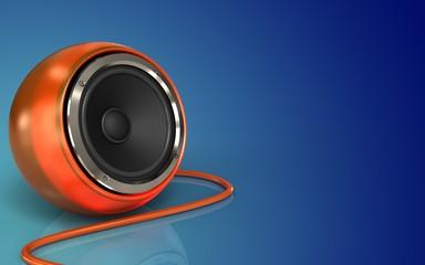 3d blank orange speaker
