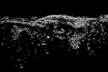 Water surface on a black