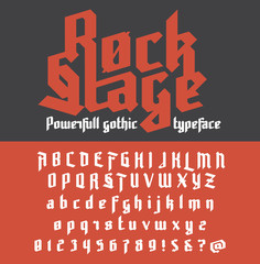 Fresh new powerfull gothic typeface - Rock Stage