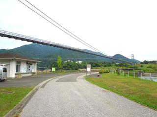 宮ケ瀬湖の風景 吊り橋