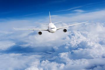 Keuken foto achterwand Vliegtuig aeroplane flying above clouds. Passenger Airliner flying