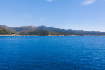 View of the sea and Elba Island