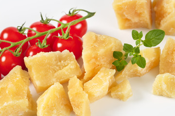 parmesan cheese and cherry tomatoes