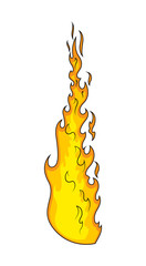 Fire Vector handmade clip-art