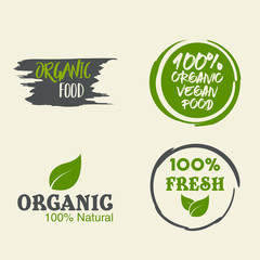 100% organic vector logo design