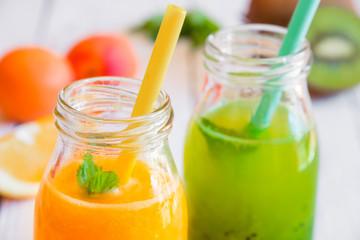 Orange and kiwi juice