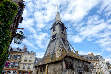 Bell tower of the Sainte Catherine church of Honfleur