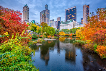 Central Park Autumn in New York City Wall mural