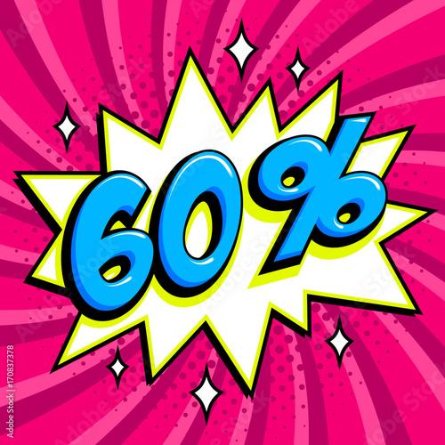 46c3d8926 Purple sale web banner. Sale sixty percent 60 off on a Comics pop ...