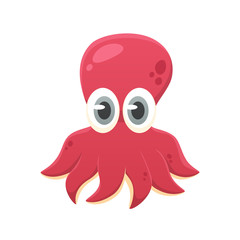 Cartoon octopus vector isolated illustration