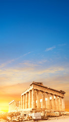 Parthenon temple, the Acropolis in Athens, Greece