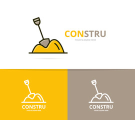 Vector of pile of sand logo design template.