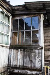 Printed roller blinds Old abandoned buildings old abandoned house, wooden building with a porch