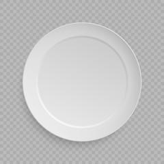 white dish plate background