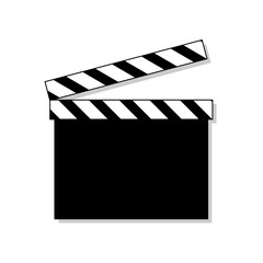 Clapper board icon isolated on background. Movie clapper board. Cinema symbol. Vector stock.