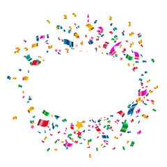 Celebration carnival. Bright colorful vector confetti background.