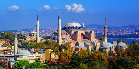 Hagia Sophia basilica in Istanbul city, Turkey