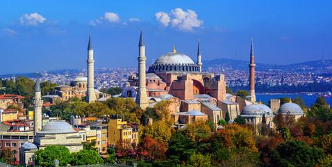 Printed roller blinds Turkey Hagia Sophia basilica in Istanbul city, Turkey