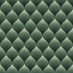Green seamless curved diamonds pattern.