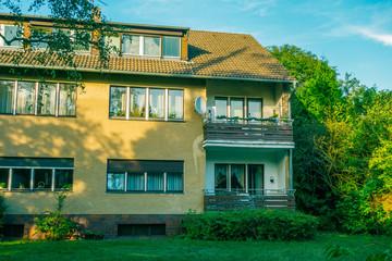 detached house in vintage colors