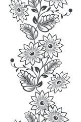 Seamless vertical flower ornament