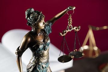 Burden of proof, legal law concept image. Purple background