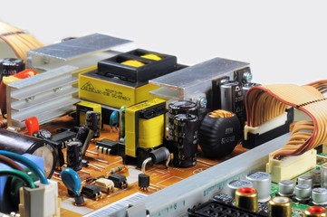 Electronic LCD TV Components.
