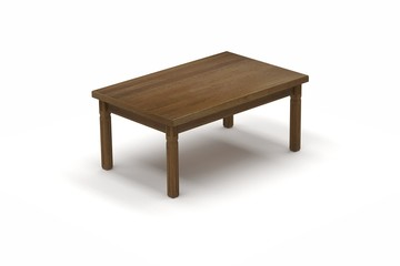 3d illustration of a coffee table