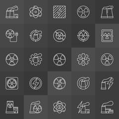 Nuclear energy icons