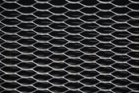 Tractor radiator grille.