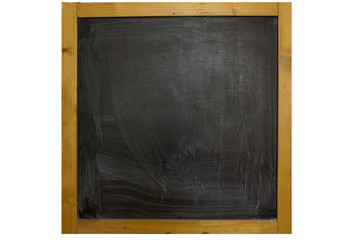 School blackboard with frame wooden on isolated.