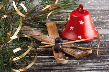 Christmas tree and red bell