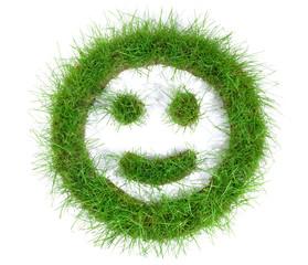 Smiley aus Gras