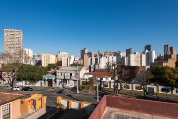 Curitiba Cityscape on a Beautiful Day
