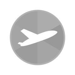 Kreis Icon - abhebendes Flugzeug