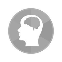 Kreis Icon - Gehirn im Kopf
