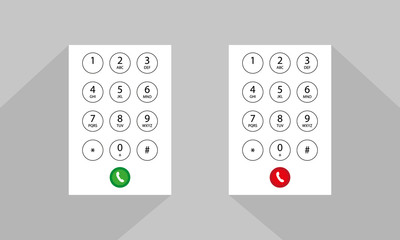 abstract flat user interface keypad