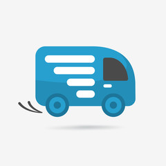 Delivery car, shipping icon.
