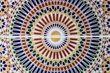 full frame shot of Moroccan  Mosaic