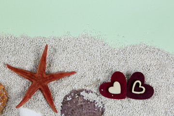 Heart and Starfishes