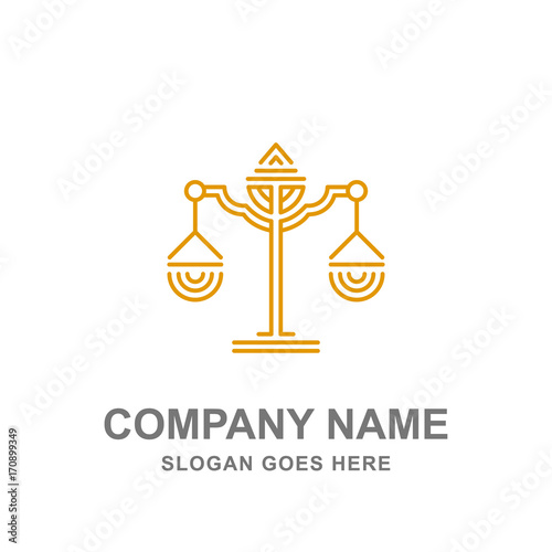Law Firm Legal Justice Scale Logo Vector