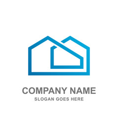 House Building Architecture Logo Vector Design