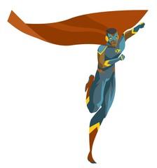 african caped superhero