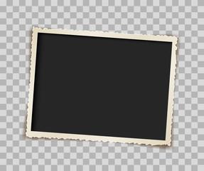 paper retro photo frame vector design
