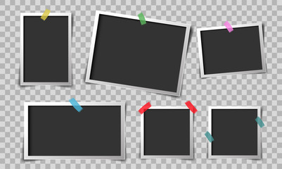 paper retro photo frame vector design
