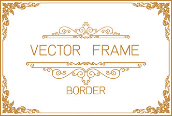 gold border design frame photo template certificate template with luxury and modern pattern yelopaper Choice Image
