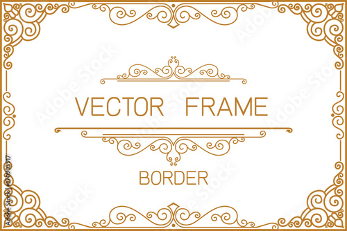 Gold border design frame photo template certificate template gold border design frame photo template certificate template with luxury and modern pattern yadclub Image collections
