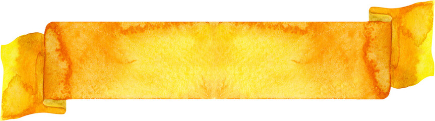 Watercolor yellow banner.