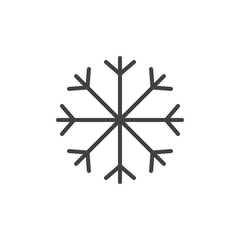 Winter line icon, outline vector sign, linear style pictogram isolated on white. Astrology symbol, logo illustration. Editable stroke.