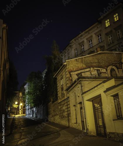 Wall mural ulica nocą